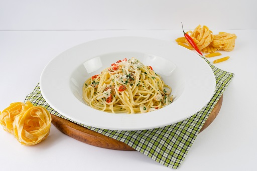 Паста спагетти Алио и Олио