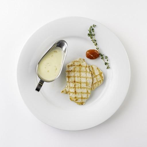 Куриная грудка гриль с персиковым соусом