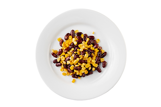 Фасоль с кукурузой