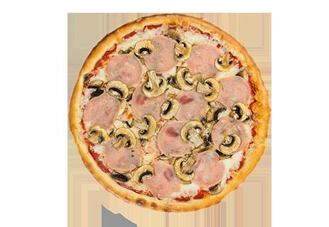 Ветчина и грибы пицца