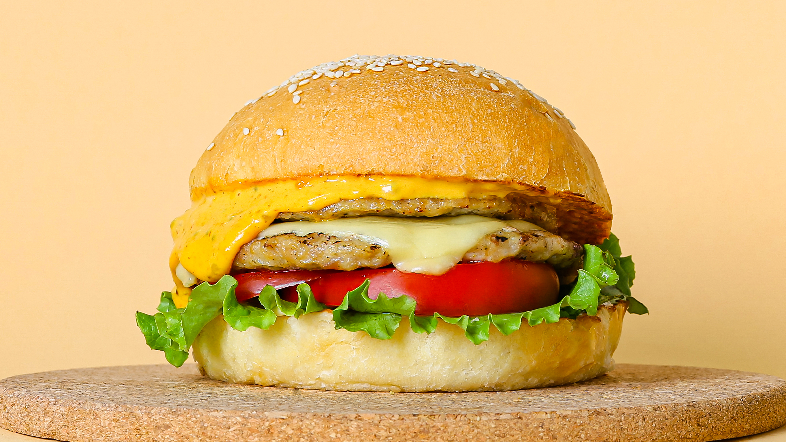 Чизбургер куриный