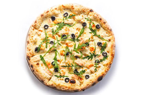 Морская пицца с рукколой+бокс