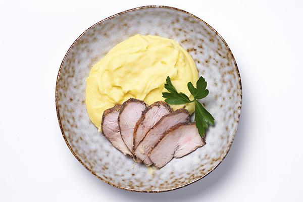 Картофельное пюре с куриной грудкой