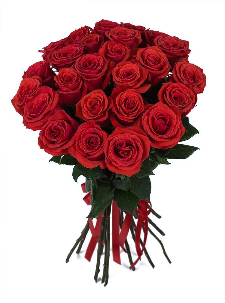 Красная роза 55 см