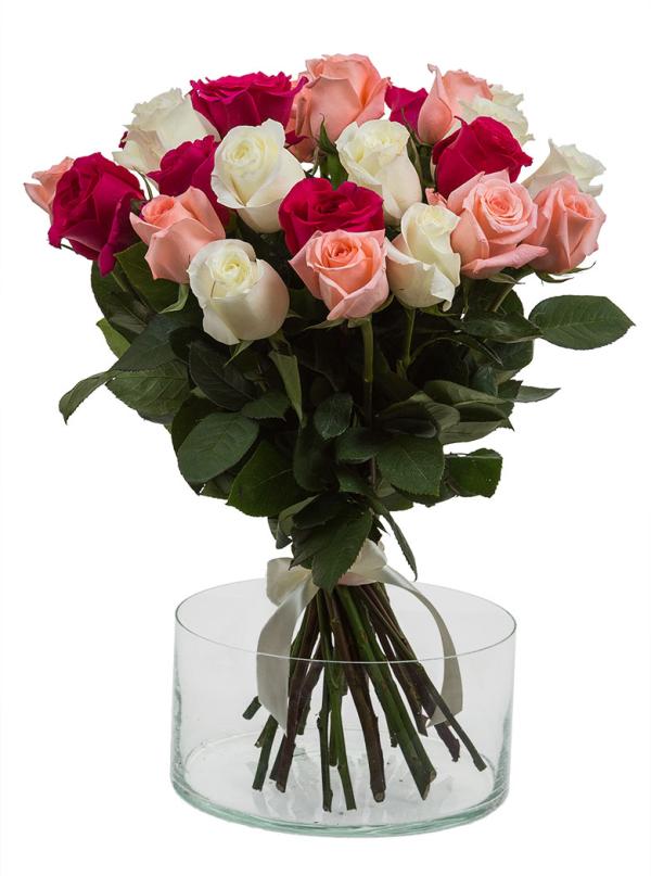 25 Элитных роз 55 см