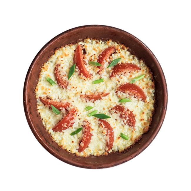 Фото Запеченные томаты с домашним сыром