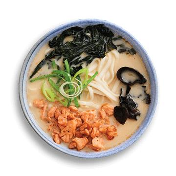 Острый суп Мисо с лососем