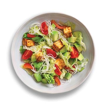 Салат с авокадо и сыром тофу